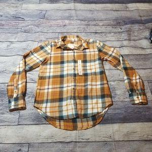 New SO cozy shirt  XS plaid button down